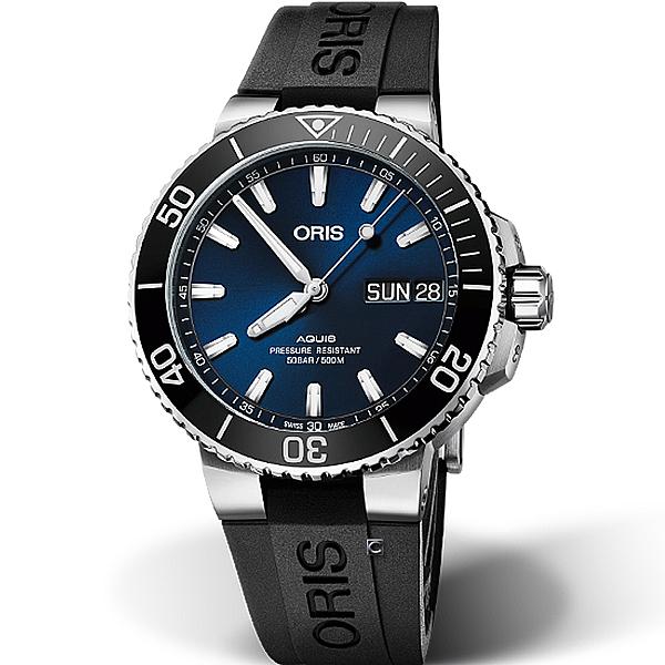Oris豪利時Aquis Big Day Date潛水機械錶 0175277334135-0742464EB