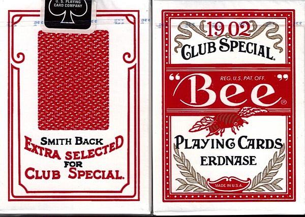 【USPCC撲克館】Bee1902 Erdnase smith 紅背撲克