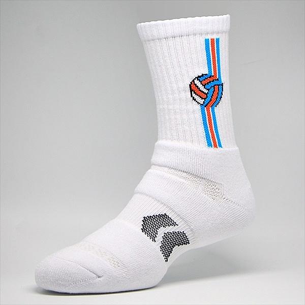 排球襪-經典款白