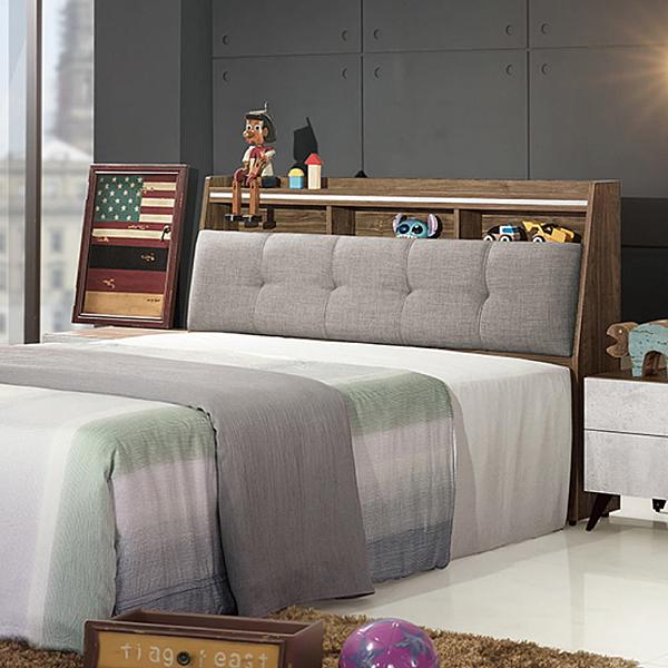 【采桔家居】克爾森 時尚5尺亞麻布雙人床頭箱