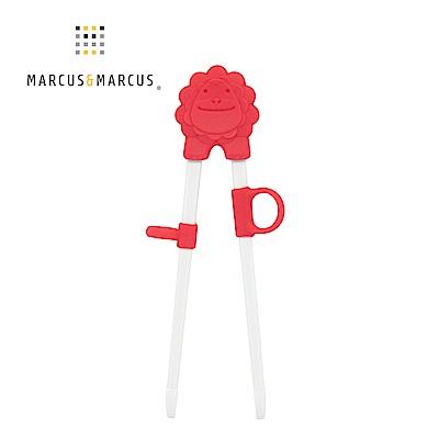 【MARCUS&MARCUS】動物樂園幼兒學習筷-獅子(紅)