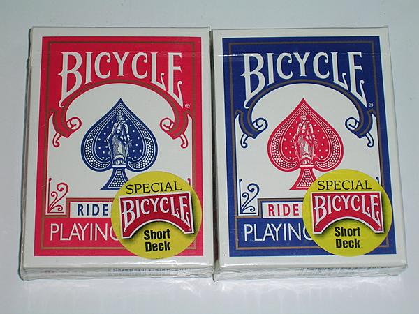【USPCC 撲克】BICYCLE short 短牌(紅背/藍背) ohio 老版撲克牌