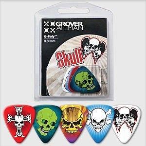☆ 唐尼樂器︵☆澳洲製 Grover Allman 主題系列『Skull』烏克麗麗/木吉他/電吉他 Pick 彈片