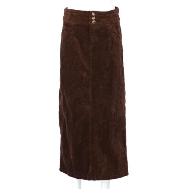 anap mimpi コーデュロイロングタイトスカート(ブラウン)