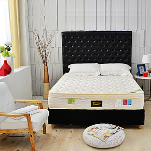 【睡芝寶】三線天絲棉涼感抗菌+高蓬度蜂巢獨立筒床墊雙人5尺