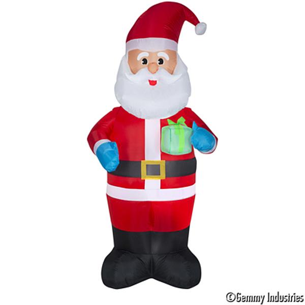 充氣老公公拿禮物包,聖誕佈置/充氣擺飾好收納/聖誕充氣,X射線【X007916】