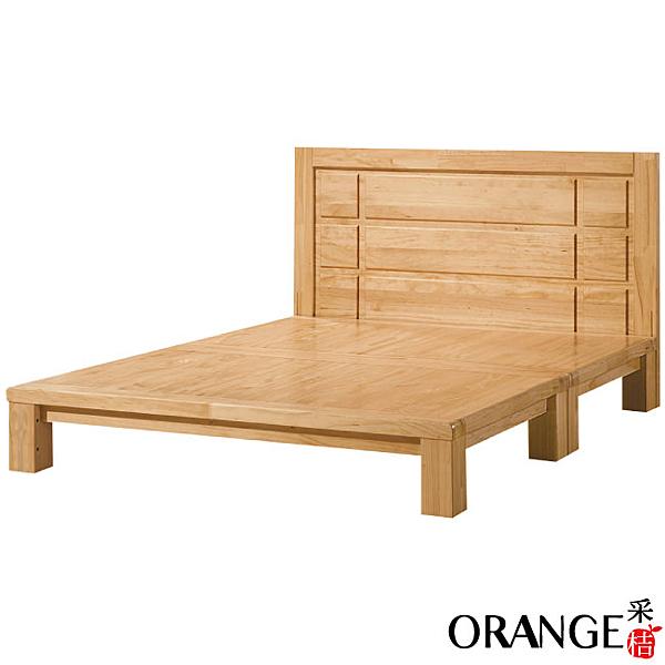 【采桔家居】莫克   時尚5尺雙人實木床台(不含床墊)