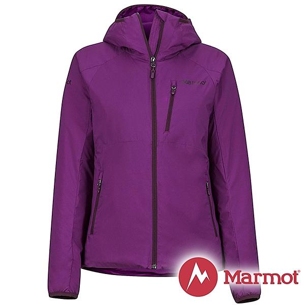 【Marmot】女 Novust 彈性保暖 連帽外套『紫』78190 戶外 登山 防風 防潑水 透氣