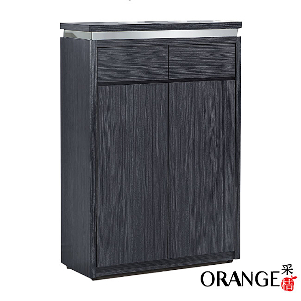 【采桔家居】 西瓦 時尚2.7尺木紋二門鞋櫃/玄關櫃