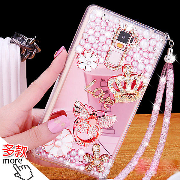 三星 S20 S10 S9 S8 Note9 Note8 Note10 多圖款珍珠水鑽支架殼 電鍍鏡面軟殼 水鑽 手機殼 指環支架 送掛繩