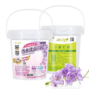 JoyLife 小蒼蘭微膠囊洗衣粉1公斤+全能去污王小蘇打粉1公斤