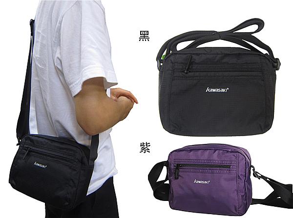 ~雪黛屋~KAWASAKI 肩側包超小容量5L主袋+外袋共三層高單數超輕量防水尼龍布中性款全齡HKA213