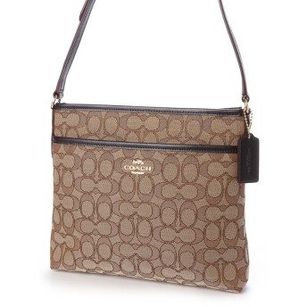 コーチ COACH SHOULDER BAG (KHAKI/BROWN)