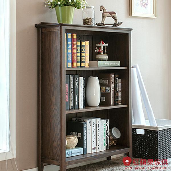 [紅蘋果傢俱] JM010 書櫃 層櫃 邊櫃 北歐風書櫃 日式書櫃 實木書櫃 無印風書櫃 簡約書櫃