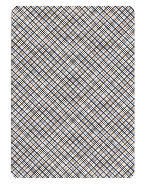 【USPCC 撲克】S103049161 Vintage Plaid - California Blue