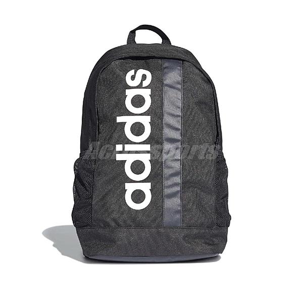 adidas 後背包 LIN Core BP 黑 白 男女款 運動休閒【ACS】 DT4825