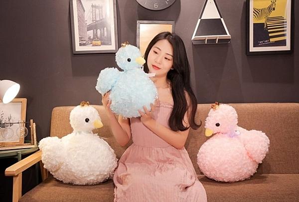【30公分】皇冠天鵝娃娃 安撫玩偶 聖誕節交換禮物 生日禮物 兒童節禮物 網美拍照裝飾