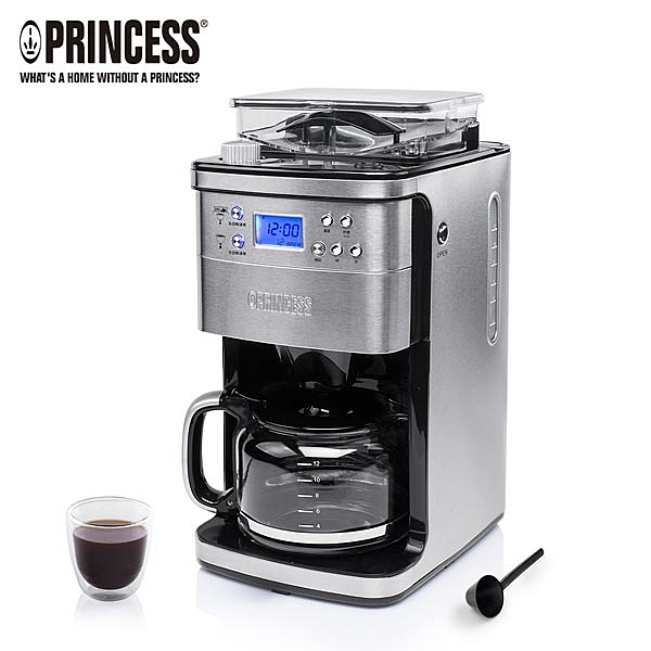 加贈咖啡豆1磅【荷蘭公主 PRINCESS】全自動智慧型美式咖啡機 (249406)