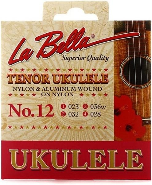 ☆唐尼樂器︵☆全新公司貨 La Bella No.12 Tenor 26吋烏克麗麗套弦(第三弦鍍弦纏繞弦)