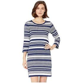 [Tommy Bahama(トミーバハマ)] ドレス・ワンピース Knotty Stripe Shift Dress Island Navy (S) [並行輸入品]