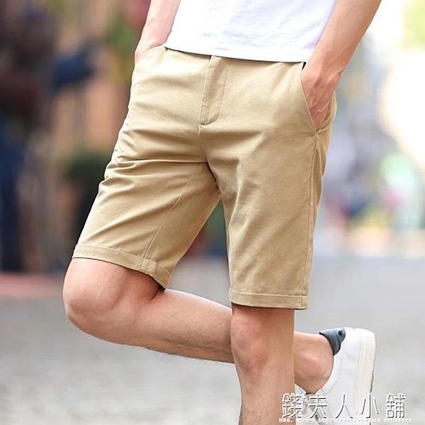 休閒短褲男士五分褲夏天寬鬆大褲衩5分中褲純棉韓版潮流馬褲 母親節禮物