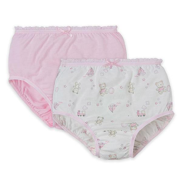 Baby City 玩具熊天絲女童內褲2入 (90-130)