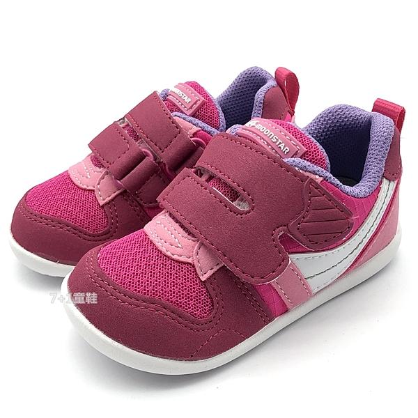 《7+1童鞋》小童 日本月星 MOONSTAR MSB77S2 透氣網布 機能鞋 運動鞋 學步鞋 C496 粉色