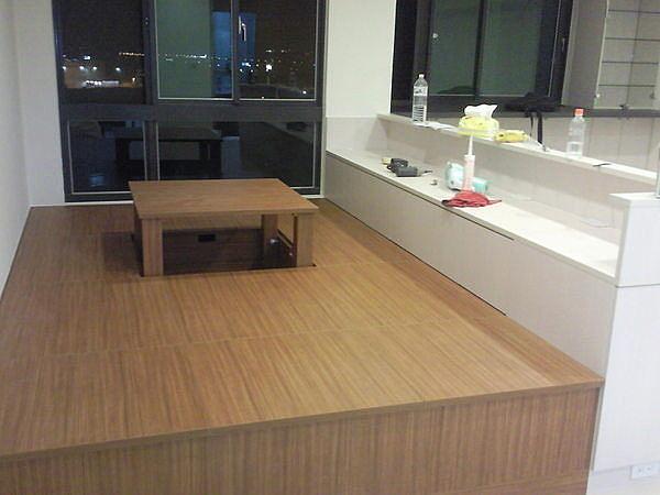 歐雅系統家具 系統櫃 上掀式和室收納櫃,手動麻將桌, 德國 E1V313 防潮塑合板