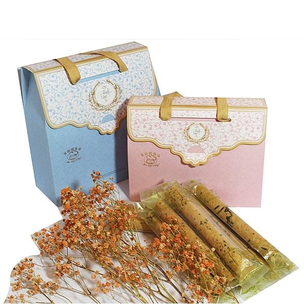 艾格諾先生手工蛋捲 幸福禮盒 (原味+抹茶)單支袋包裝20入