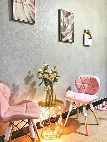 椅子-椅子北歐家用簡約椅網紅椅子靠背粉色書桌凳子ins梳妝伊姆斯餐椅【快速出貨】