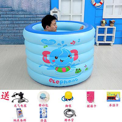 充氣浴缸 家用成人泡澡桶兒童小孩洗澡桶單人浴盆折疊大人浴桶【快速出貨】