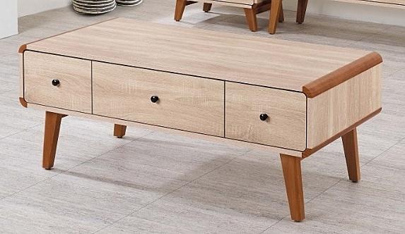 【南洋風休閒傢俱】時尚茶几系列-柏克4尺三抽大茶几 沙發桌 咖啡桌 SB669-5