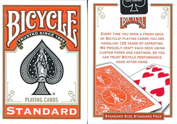 【USPCC撲克館】撲克牌BICYCLE 808 橘色背紋2011 紀念牌 standard