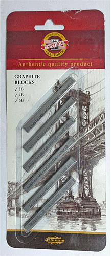KOH-I-NOR 方形鉛條2.4.6B卡裝 *4390