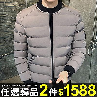 任選2件1588鋪面外套韓版潮流素面保暖長袖鋪面外套【08B-F0667】
