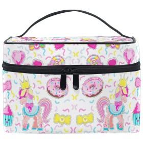 レインボーユニコーンスター化粧品袋オーガナイザージッパー化粧バッグポーチトイレタリーケースガールレディース