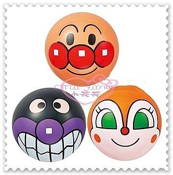 ♥小花花日本精品♥ 麵包超人 細菌人 小病毒 大臉 造型 皮球玩具 三入組50086801