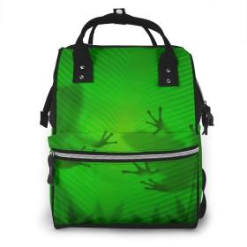 ミイラバックパック ミイラバッグ シンプル バックパック ベビー用品バック 旅行用 多機能バックパック リュックサック バックパック 葉の下にカエル マザーバック 防水 多機能 大容量 軽量