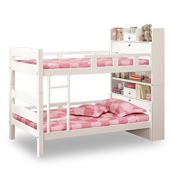 床架【時尚屋】[C7]洛克3.5尺白色多功能雙層床C7-702-1不含床墊/免運費/免組裝/臥室系列