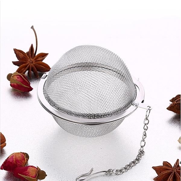 PUSH!廚房餐具用品304不鏽鋼滷料煲湯茶葉過濾器調味滷包球加大號2入D72-1