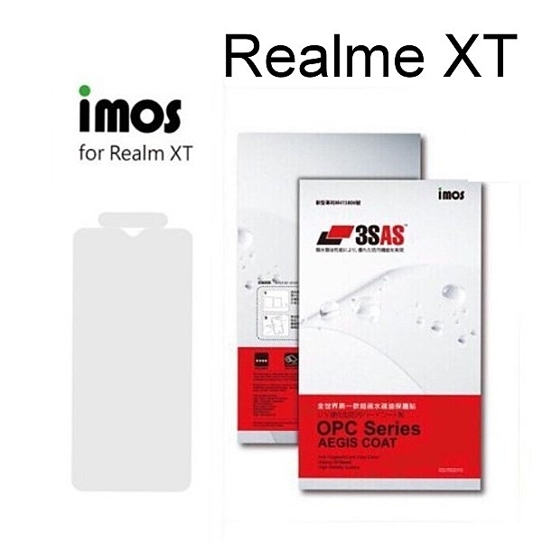 【iMos】3SAS系列保護貼 Realme XT (6.4吋) 超潑水、防污、抗刮