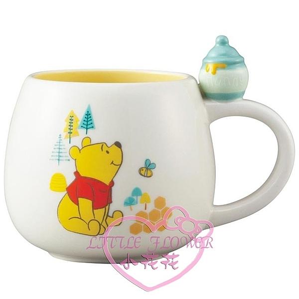 ♥小花花日本精品♥迪士尼POOH小熊維尼杯緣馬克杯陶瓷馬克杯蜂蜜罐杯300ml水杯茶杯11297208