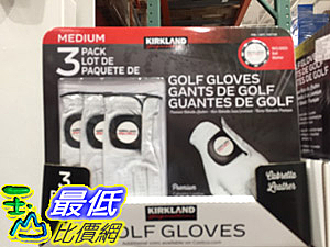 [COSCO代購] CA1307169 KIRKLAND SIGNATURE 高爾夫球手套3入
