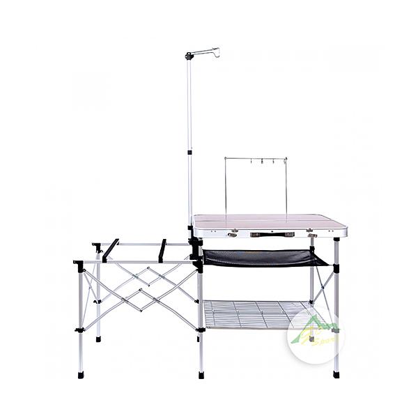 [Go Sport] 鋁合金手提式料理桌 (附鐵網) (98001A)