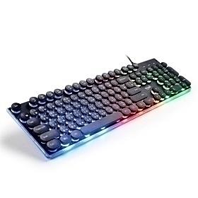 E-books 炫光打字機靜音有線鍵盤 Z6