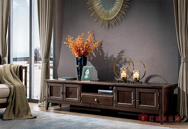 [紅蘋果傢俱] YK-833 歐式輕奢唯美 電視櫃 歐式TV櫃  新古典地櫃 實木電視櫃 美式電視櫃