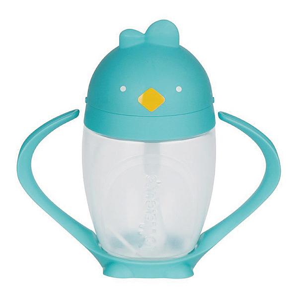 美國 LOLLACUP 小雞吸管學習水杯/喝水杯/練習杯_布魯雞(水藍)LOLLALAND