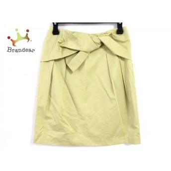 エストネーション ESTNATION スカート サイズ38 M レディース 美品 イエローグリーン   スペシャル特価 20200224