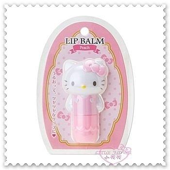 ♥小花花日本精品♥ Hello Kitty 護唇膏 香味護唇膏 保濕護唇膏 粉色 3.5g 66626404