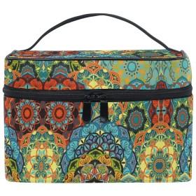 カラフルなフラワーアート化粧品袋オーガナイザージッパー化粧バッグポーチトイレタリーケースガールレディース